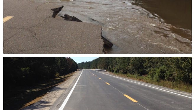 Mississippi 589, which was heavily damaged in March, is expected to re-open Friday.