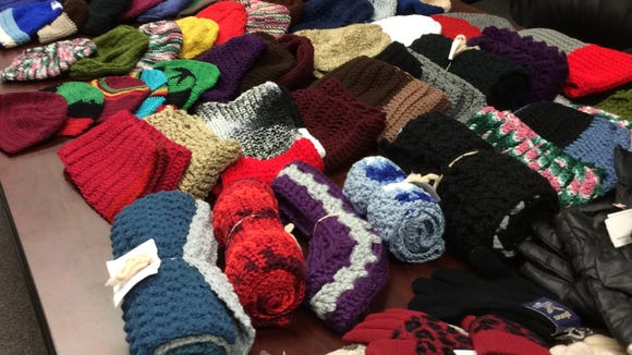 We already have collected more than 60 hats, more than 20 scarves and a shopping bag full of store-bought gloves for the  Crescent Avenue Soup Kitchen.