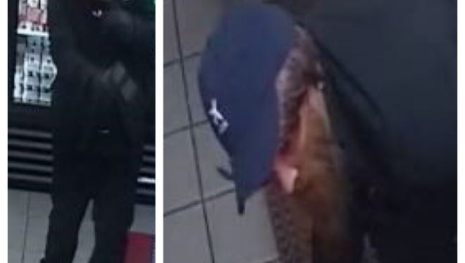 Stills from security camera footage at the Shell gas station were released by Toms River police.