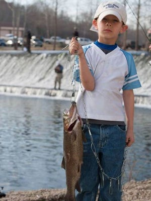 Young anglers will get to experience the fun of fishing and also will have opportunities to learn about the outdoors on May 6 at Kids' Fishing Day at Bennett Spring State Park.