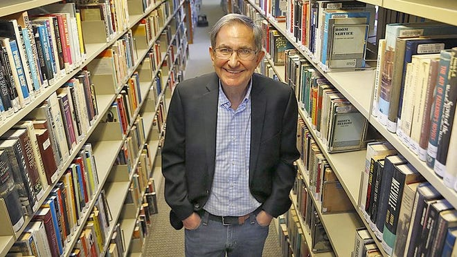 Dennis Corcoran in the Hingham Library