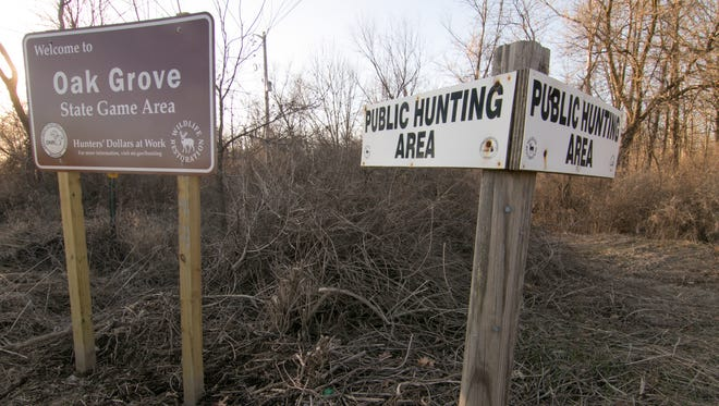 Ticks carrying Lyme Disease get infected by biting mice, deer, birds or domestic animals, and may later attach themselves to humans in tall grass like this hunting area, shown Friday, March 30, 2018 at the corner of Faussett and Fisher Roads at the border between Cohoctah and Deerfield townships.
