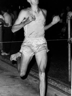 Jim Ryun, sprints to victory in the Pre-Olmpic development meet at Walnut Calif, Aug.10,1968. The Kansas Flyer was clocked in 3:55.9 as he won by 15 yards.