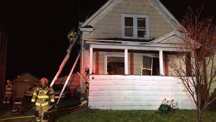 A Fond du Lac home caught fire early Monday morning. No one was injured in the blaze.