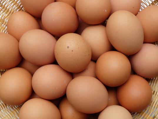 Chicken eggs Stock Image