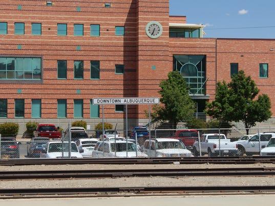 Downtown Albuquerque Train Sign