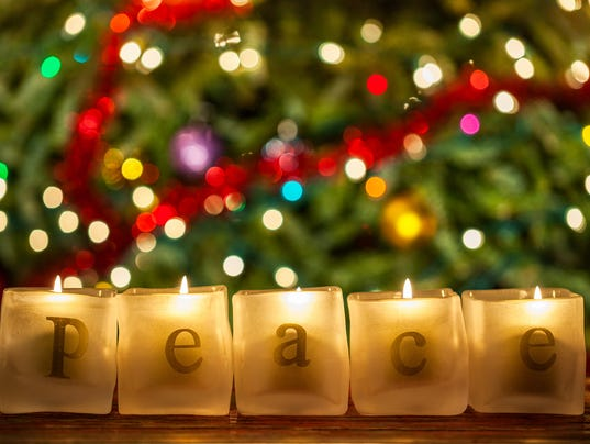Peace Christmas Candles