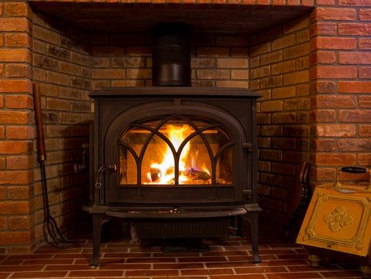 Wood Stove Fire Burning