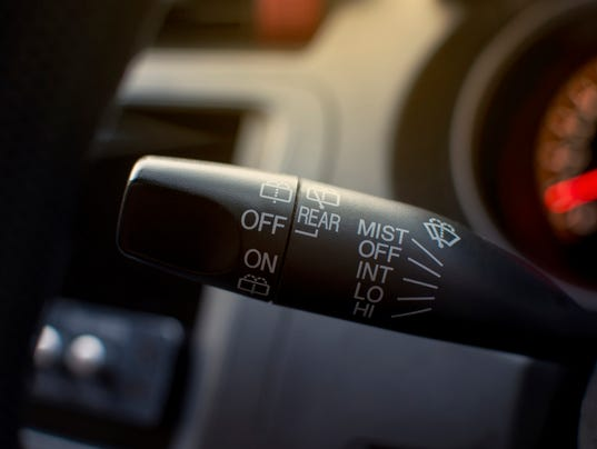 Turn on windshield wipers