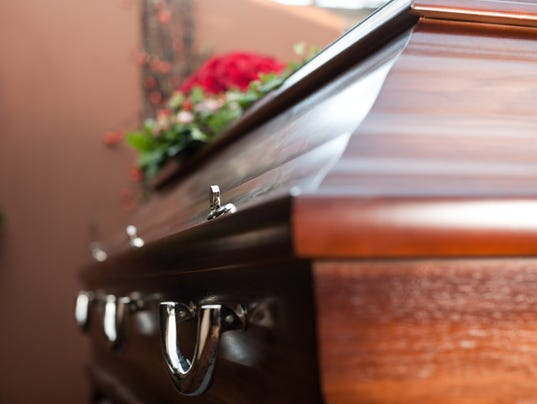 Funeral with coffin