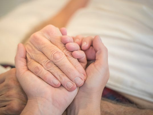 Comfort feeling and easing distress for the caregiver.