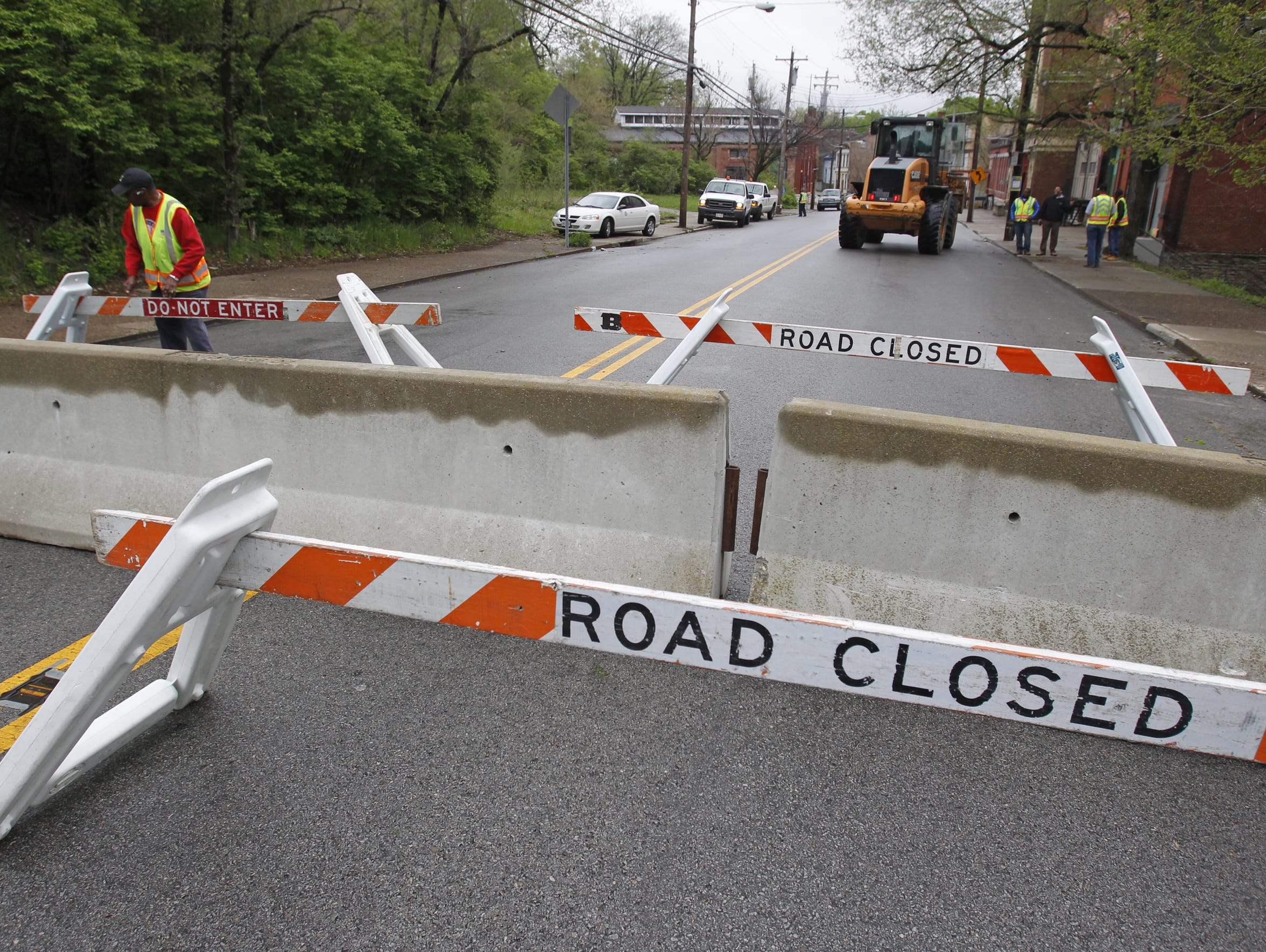 Cincinnati Police placed temporary barriers along West