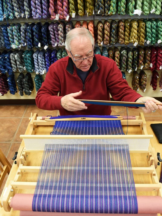 Eric Sdhiller of Novi, weaving