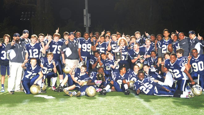 The Valley Springs Middle School football team.