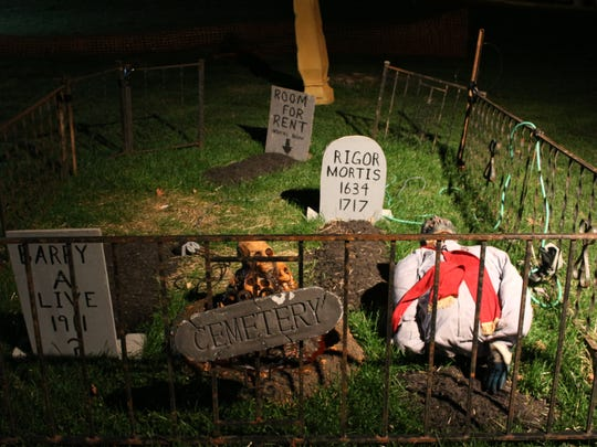 The cemetery at Mt. Healthy Haunted Hall, 7700 Seward