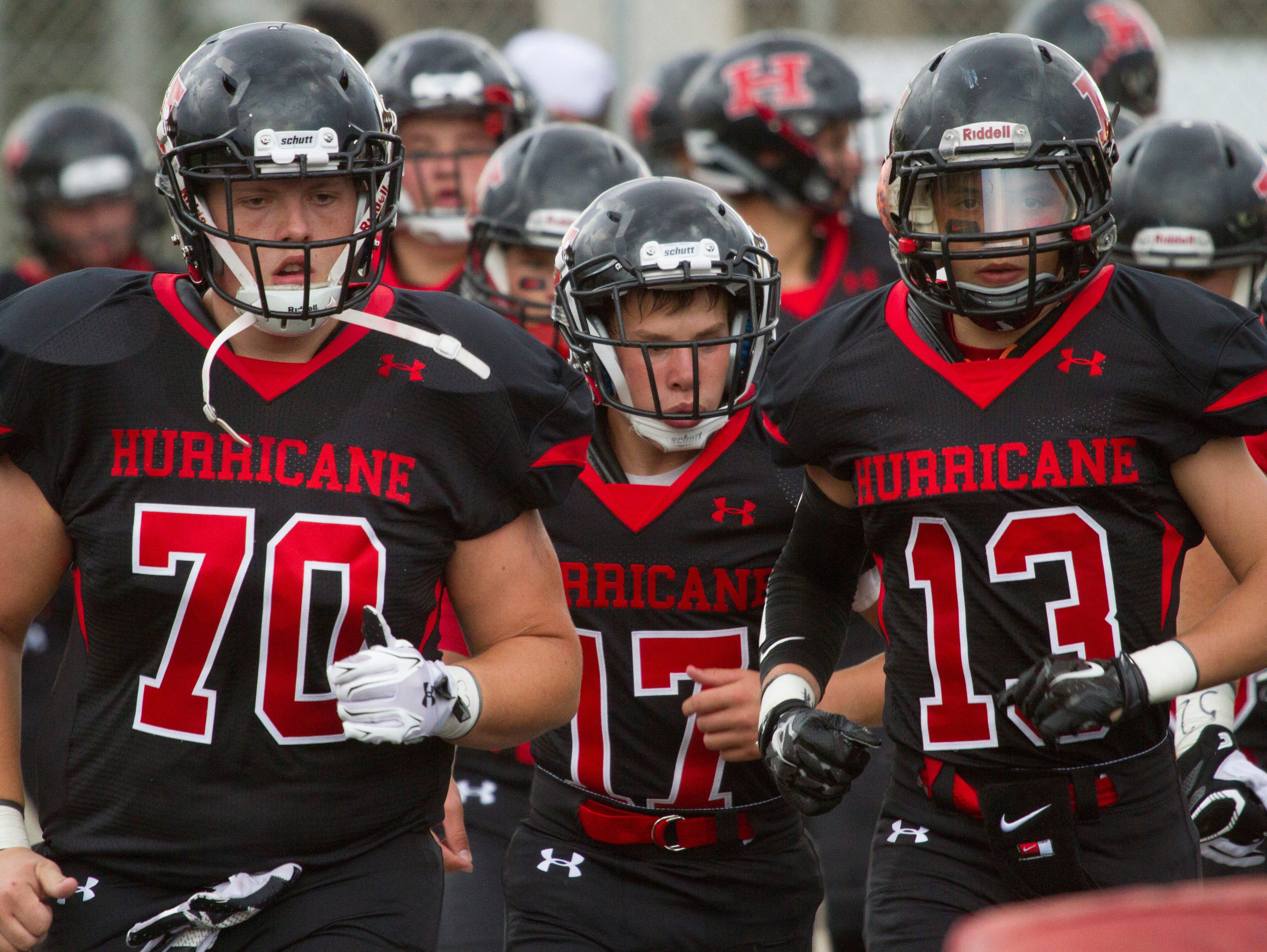 Hurricane High School football takes on Skyline High Friday, August 19, 2016.