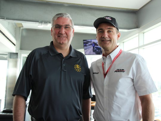 Gov. Eric Holcomb and Tim Cindric have been friends