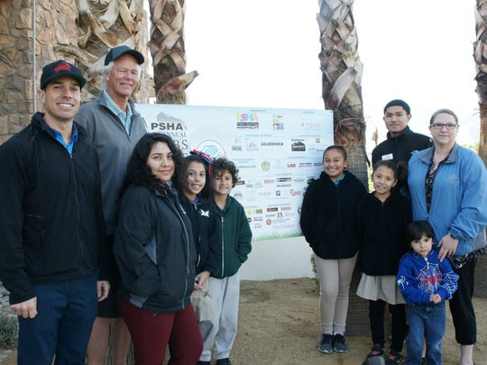 :  L to R; Board Members Patrick Service and Chris Mills, Monica Escobar, Dulce Cabriales, Marcus Madrigal, Stephanie Lopez, Ashley Cabriales, Leonard Perez, Andrea Madrigal, Executive Director and Jordan Madrigal.