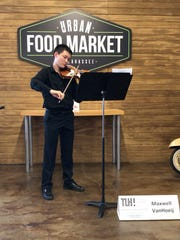 The Urban Food Market became Max VanHoeij's concert hall during Tallahassee Music Week