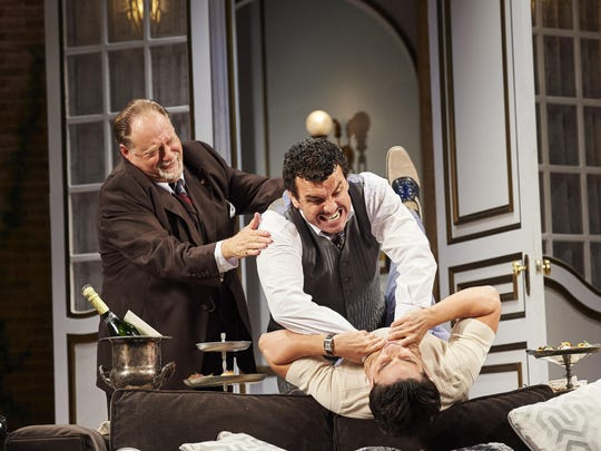 """Ron Orbach (left to right), Bradley Dean and Bobby Conte Thornton in """"A Comedy of Tenors."""""""