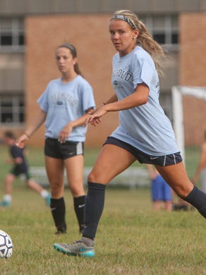 Freehold, NJ Freehold Township preseason soccer practice. Nicole Whitley 082115