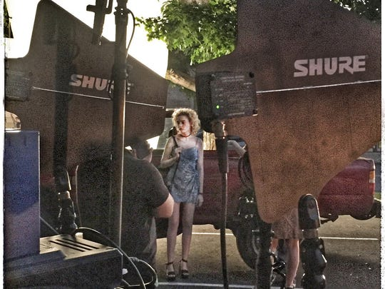 "Actress Julia Garner on the set of ""One Percent More Humid,"" which filmed in 2016 in Dutchess and New Paltz."