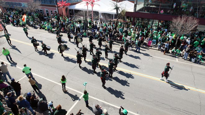 Saint Brendan the Navigator Pipes and Drums of Point Pleasant marches in the Ocean County St. Patrick's Day Parade on the Boulevard last year in Seaside Heights.