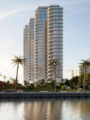 Rendering of La Clara, condo tower planned for 1515 S. Flagler Drive.