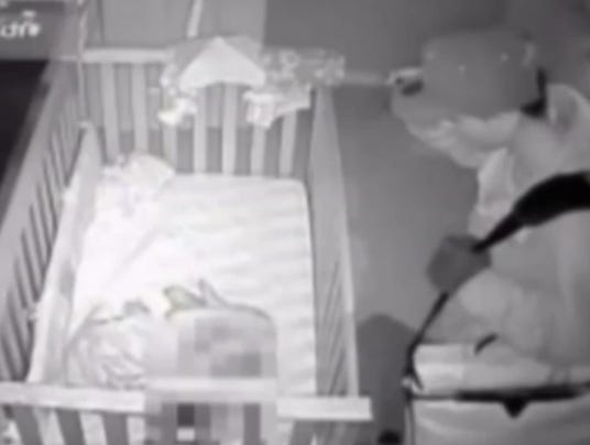 Suspect over baby's crib
