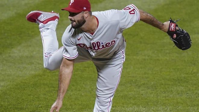Brandon Workman delivers for the Phillies.
