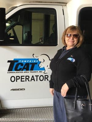 TCAT bus driver, Antoinette Briggs, safely evacuated passengers last month from a burning bus