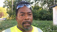 Ernest Webster, 48, arrived to mow an area on Detroit's