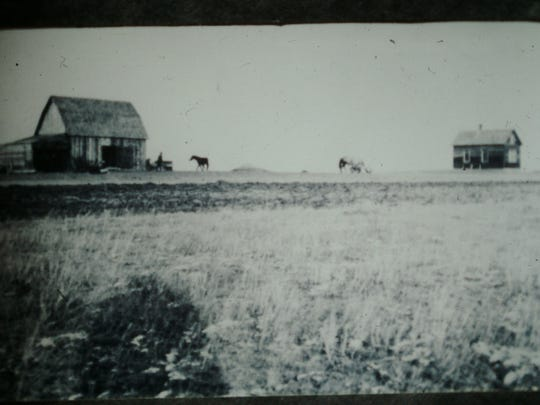 The Midge homestead in about 1911.