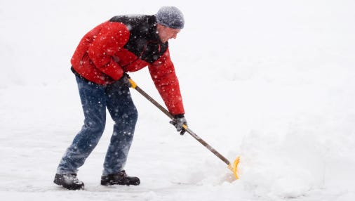 """The classic medical school textbook photo of a heart attack shows a middle-aged man clutching his chest with one hand and a snow shovel with the other,"" said UCHealth cardiologist Lance Richards. That's because shoveling snow is really the perfect-storm scenario for a heart attack or stroke."