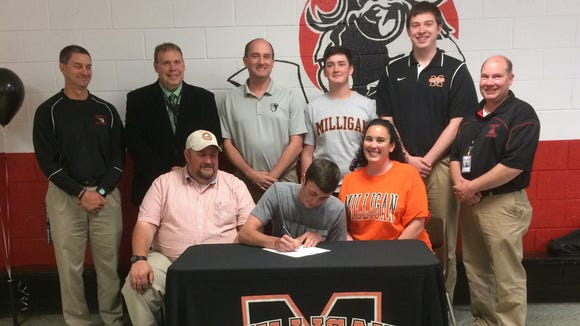 Avery County senior Jacob Waldroop has signed to play college basketball for Milligan.