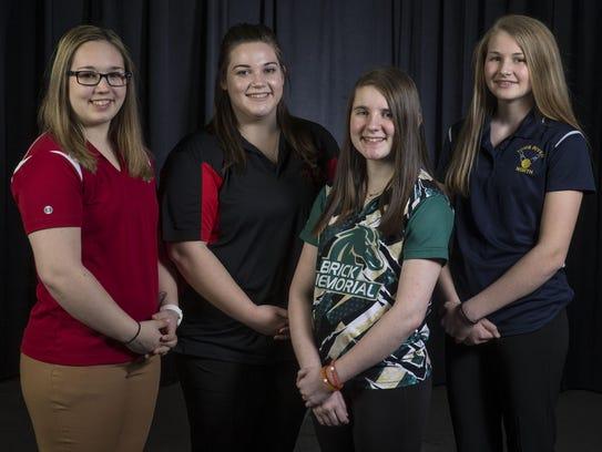 The 2016-17 All-Shore Girls Bowling Team of Jenn Ingulli,