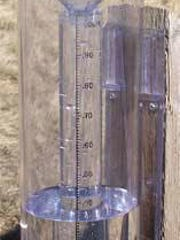 This is the rain gauge used in the Community Collaborative Rain, Hail and Snow Network monitoring project.