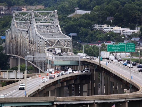 The Brent Spence Bridge is undergoing extensive maintenance.