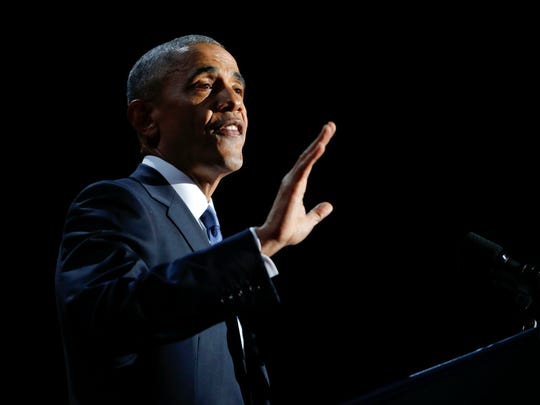In this Jan. 10, 2017, photo, President Barack Obama