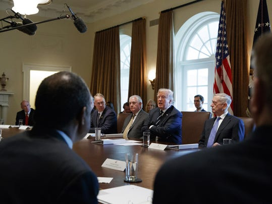 Donald Trump,Dan Coats,Ryan Zinke,Jim Mattis,Rex Tillerson