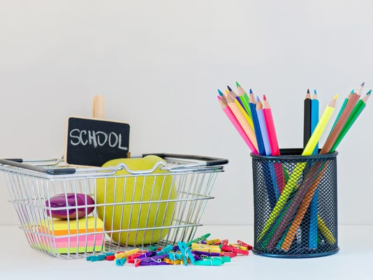 Concept of education. Shopping Back to School