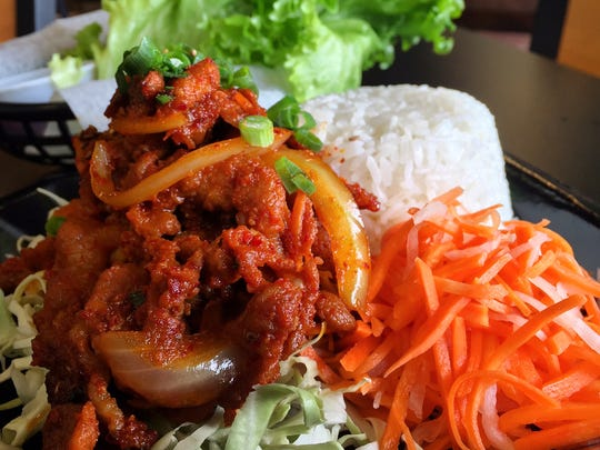 """Spicy pork bulgogi starts marinating in Korean spices on Wednesday and is served on Friday and Saturday """"as long as it lasts."""""""
