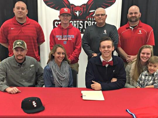 Stewarts Creek senior pitcher Will Duffee recently