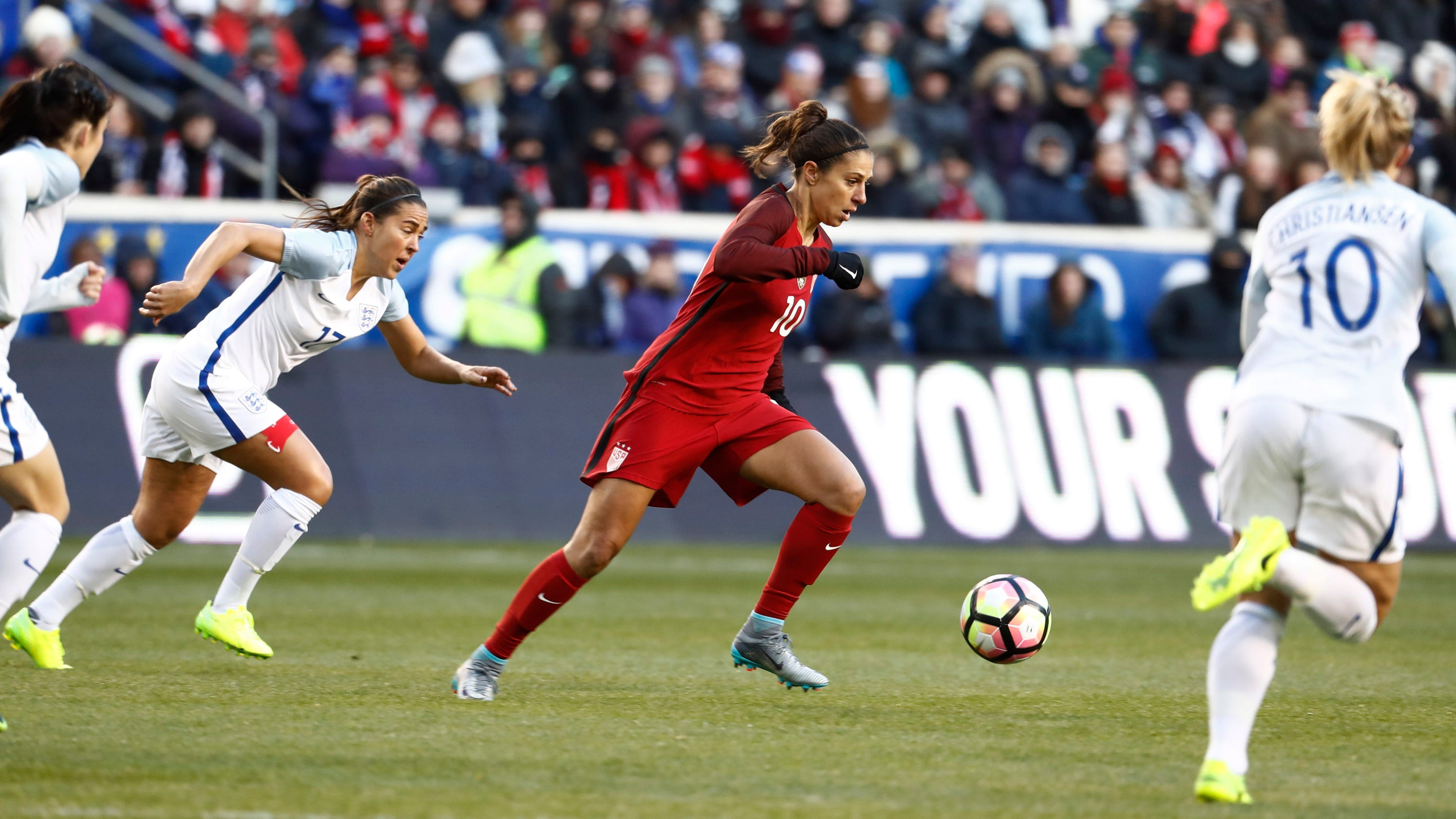 England stuns US women 1-0 in SheBelieves Cup soccer