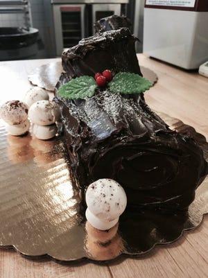 Buche de Noel at Queen City Bakery.