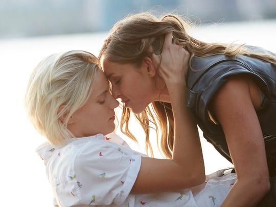 "Erika Linder (left) and Natalie Krill star in ""Below"