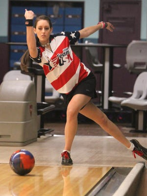 Former North Rockland High School bowler Danielle McEwan at Hi-Tor Lanes in West Haverstraw on Jan. 12, 2012. She now competes in the PWBA.