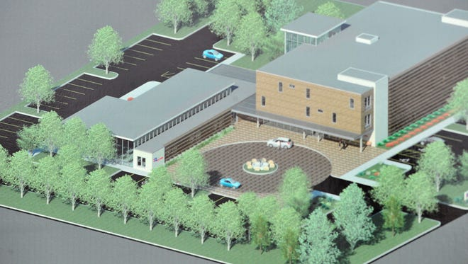 This is an artists rendering of the new American Cancer Society Hope Lodge to be built at the University of Mississippi Medical Center and shared with St. Dominics and Baptist hospitals.