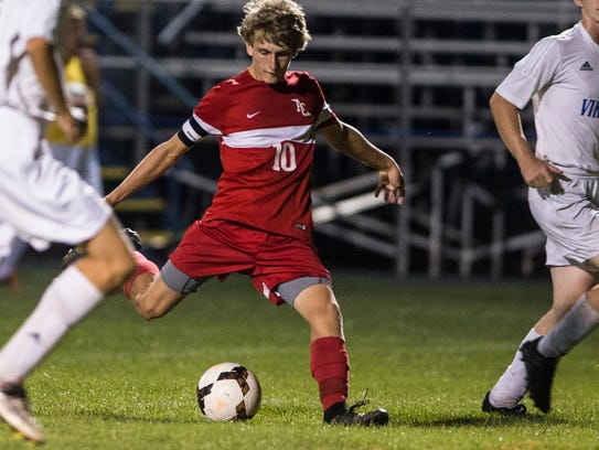 Annville-Cleona senior Eli Setlock rips a shot during