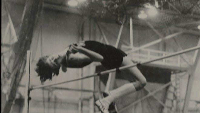 Rick Carey, seen here competing in the 1970s for Nanuet in a meet at West Point, still holds the Rockland County high jump record at 7 feet, 1/4 inch. Carey will be inducted into the Rockland County Sports Hall of Fame next Saturday.